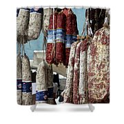 Meats And Sausages  Shower Curtain