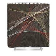 Mechanic Computer Graphic Line Pattern Shower Curtain
