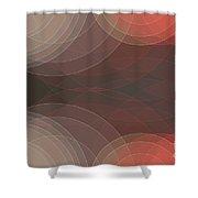 Mechanic Semi Circle Background Horizontal Shower Curtain