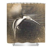 Mechanical Hummingbird Shower Curtain