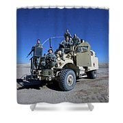 Medical Personnel Pose For A Group Shower Curtain