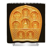 Medicine Buddha Tsatsa Shower Curtain