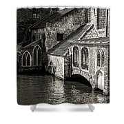 Medieval Architecture Of Bruges Shower Curtain