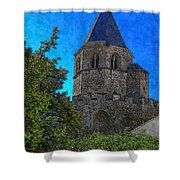 Medieval Bell Tower 1 Shower Curtain