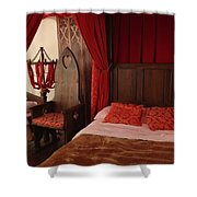 Medieval Glamping Tent Shower Curtain