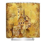 Medieval Golden Castle Shower Curtain