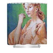 Medieval Lady Shower Curtain