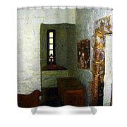 Medieval Monastic Cell Shower Curtain