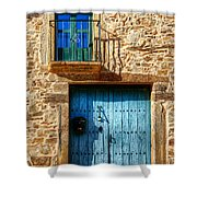 Medieval Spanish Gate And Balcony Shower Curtain