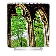 Medieval Triptych Shower Curtain
