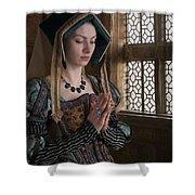 Medieval Tudor Woman At Prayer Shower Curtain