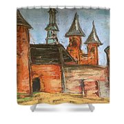 Medieval Walls Shower Curtain