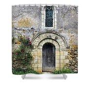 Medieval Window And Door Shower Curtain