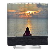 Meditando Al Amanecer II Shower Curtain