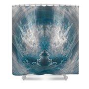Meditating Cloud - 3 Shower Curtain