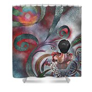 Meditating Life Universe And Beyond Shower Curtain