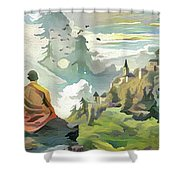 Meditating With Nature Shower Curtain
