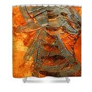 Meditation - Tile Shower Curtain