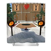 Meditation Beach Shower Curtain by Eikoni Images