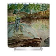 Meditation Shower Curtain by Carrie Viscome Skinner