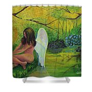 Meditation In Eden Shower Curtain