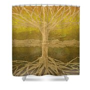 Meditation Shower Curtain by Leah  Tomaino