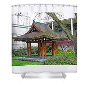 Meditation Pagoda Shower Curtain