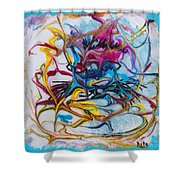Meditative Position Shower Curtain