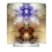 Meditative Symmetry 3 Shower Curtain