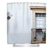 Mediterranean Balcony Shower Curtain