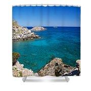 Mediterranean Blue Shower Curtain