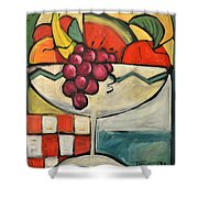 Mediterranean Fruit Cocktail Shower Curtain