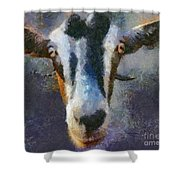 Mediterranean Goat Shower Curtain