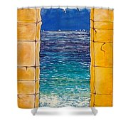 Mediterranean Meditation  Shower Curtain