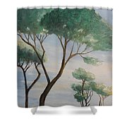Mediterranean Pines Shower Curtain
