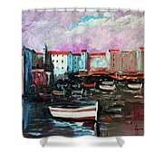 Mediterranean Port Shower Curtain
