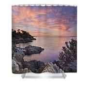 Mediterranean Sunrise Shower Curtain