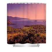 Mediterranean Sunset Glow Shower Curtain
