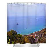 Mediterranean View Shower Curtain