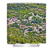 Mediterranean Village On Island Of Vis Shower Curtain