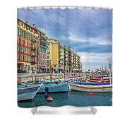 Meditteranean Life In Nice, France Shower Curtain