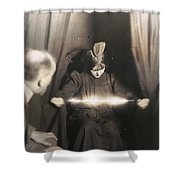 Medium During Seance 1912 Shower Curtain