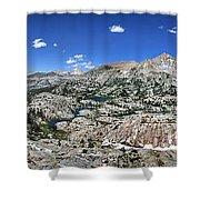Medley Lake Basin Panorama From High Above - Sierra Shower Curtain