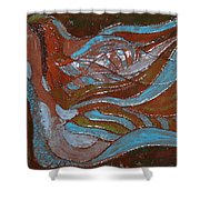 Medusa - Tile Shower Curtain