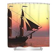 Medusa Sailing Ship Shower Curtain