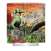 Medusa's Realm At Sunset Shower Curtain