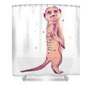 Meerkat, Digital Artwork Shower Curtain