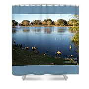 Meet Me At The Fountain Shower Curtain