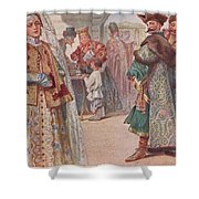 Meeting 1 Sergey Sergeyevich Solomko Shower Curtain