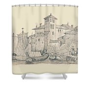 Meeting At The Docks Classics 2 Shower Curtain